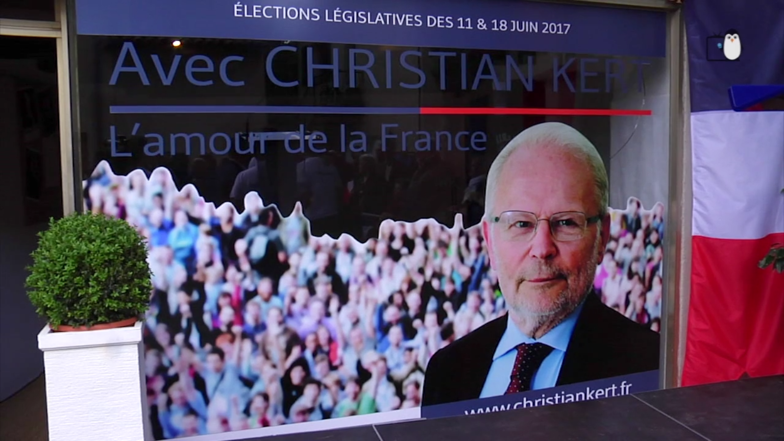 Législatives 2017 : Christian Kert inaugure sa permanence